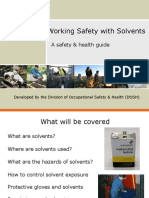 Solvent Safety 1