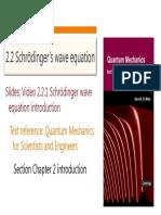 Schroedinger s Wave Equation
