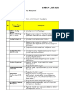 Contoh Checklist Audit Internal Poltekpar