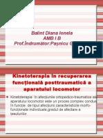 Kinetoterapia in Afectiunile Posttraumatice