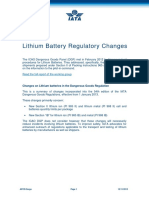 Lithium Battery Changes