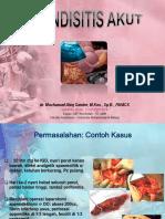 Dr. Mochamad Aleq Sander, Spb___appendisitis Akut