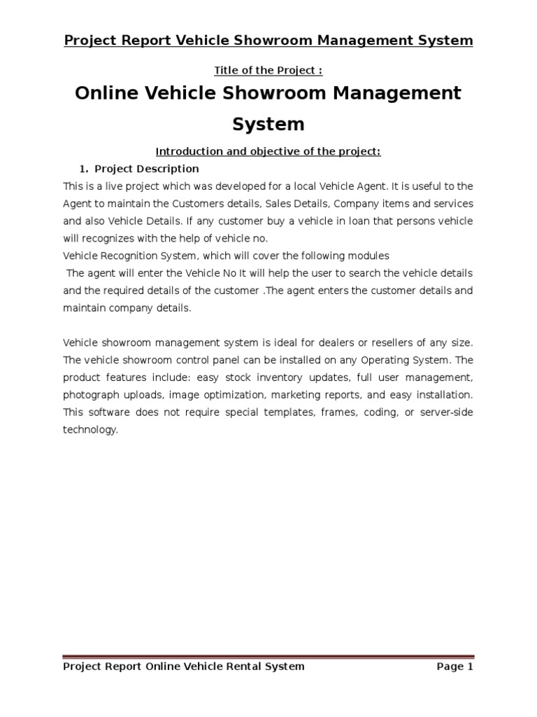 Vehicle showroom management system project report in php and mysql vehicle showroom management system project report in php and mysql modelviewcontroller feasibility study ccuart Choice Image