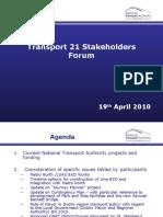 T21 Stakeholders Forum Presentation