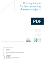 Dutch Guideline for Deaccesioning of Museum Objects