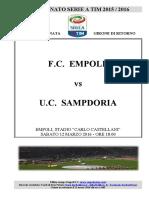 Empoli Sampdoria 29giornataseriea