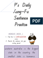 kung fu punctuation practise