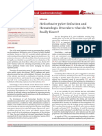 Helicobacter pylori Infection and Hematologic Disorders
