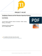 Vendlerian Classes and Russian Aspectual System Braginsky & Rothstein 2008
