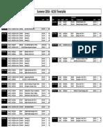 GCSE Summer 2016 Exam Timetable