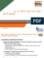 4Q15 Presentation of Results