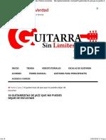 10 Guitarristas de Jazz Que No Puedes Dejar de Escuchar _ Guitarra Sin Límites