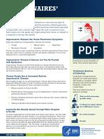 Legionnaires' Disease fact sheet