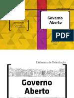Cadernos de Orientação Governo Aberto