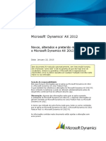 New Changed and Deprecated Features for Microsoft Dynamics AX 2012 R2 BR