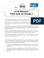Loi El Khomri - Mars 2016