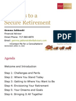 Six Steps to a Secure Retirement