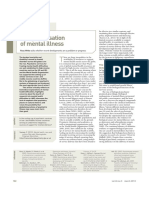 Globalisation of mental illness