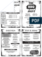 BBQ Joint Menu