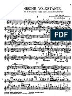 Bartok B. Danzas Rumanas Para Violín y Piano (Edición)