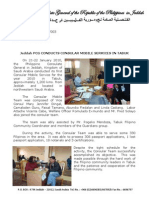 2010-003 PCG Press Release Tabuk Mobile Consular Services