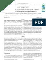 Características de La Comercialización Minorista de Hortalizas Para Distintos Sectores Sociales en Rosario (Santa Fe)