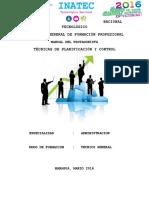 MANUAL PROTAGONIST Planificacion y Control
