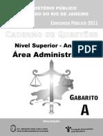 Analista Area Administrativa Prova A