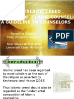 The Islamic Creed as the Basis of Islamic Counseling