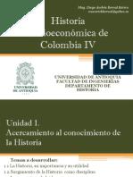 Cronograma de Sesiones y Exposiciones Historia Socioeco IV