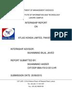 Internship Report AHL 2015.