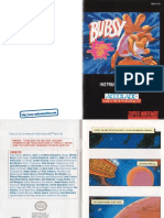 Bubsy in Claws Encounters of the Furred Kind Manual SNES