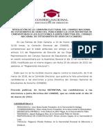 (1) Comisión Electoral - Publicación Def. Candidaturas
