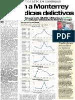 11-03-16 Pegan a Monterrey altos índices delictivos