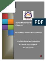 2015-16  MBA - II North Maharashtra University Syllabus