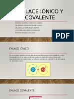 Enlace iónico y covalente