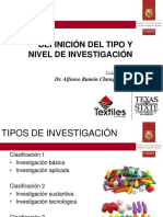 Unidad 5 - Definicion Del Tipo y Nivel de Investigacion