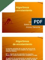 Algoritmos de enrutamiento presentaciónnnnnnnnn