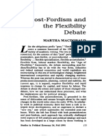 Macdonald - Post-Fordism and the Flexibility Debate