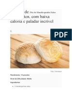 Receitas de Pão de Mandioquinha Salsa Sem Glúten