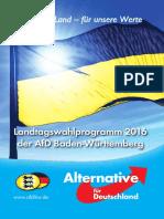 Parteiprogramm der AFD