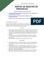 Procedimientos de Registro de Mercancias