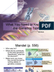 What You Need to Know for the Genetics