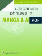 Learn Japanese Phrases in Manga Anime