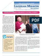 Xaverian Mission Newsletter May 2010