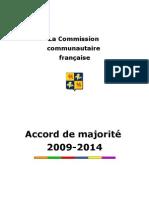 Accord de Majorité Cocof 2009-2014