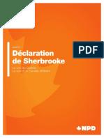 La Déclaration de Sherbrooke