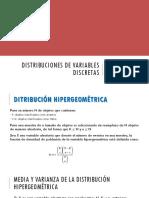 Distribuciones de Variables Discretas 2