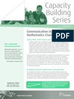 cbs - communication in the mathematics classroom