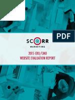 SCORR 2015 CRO CMO Website EvaluationReport